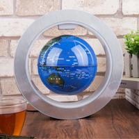 Home Led Decorative Desktop World Map Anti gravity Auto Rotating Magnetic Levitation 4 Inch Illuminated Gift Floating Globe