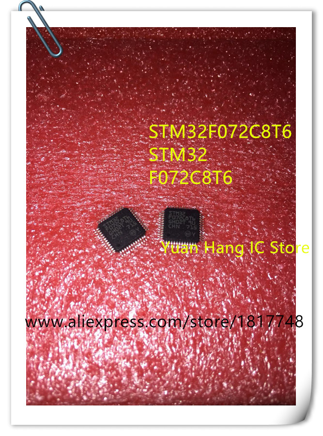 10PCS/LOT Free Shipping STM32F072C8T6 STM32F072 LQFP-48 Micro controller chip ic free shipping 10pcs lot gal16v8d 15qp gal16v8d 15 integrate circuit ic