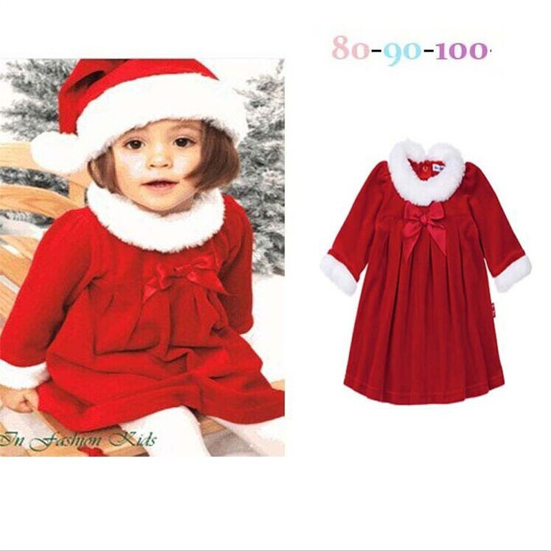 brand new small childrens clothing autumn winter christmas clothes girls dress with hat girl clothes in dresses from womens clothing accessories on