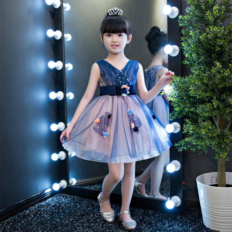 2018baby girls elegant flowers princess dresses children kids long tail  evening ball gown birthday party wedding christmas dress - aliexpress.com -  imall. ... 39781109add4