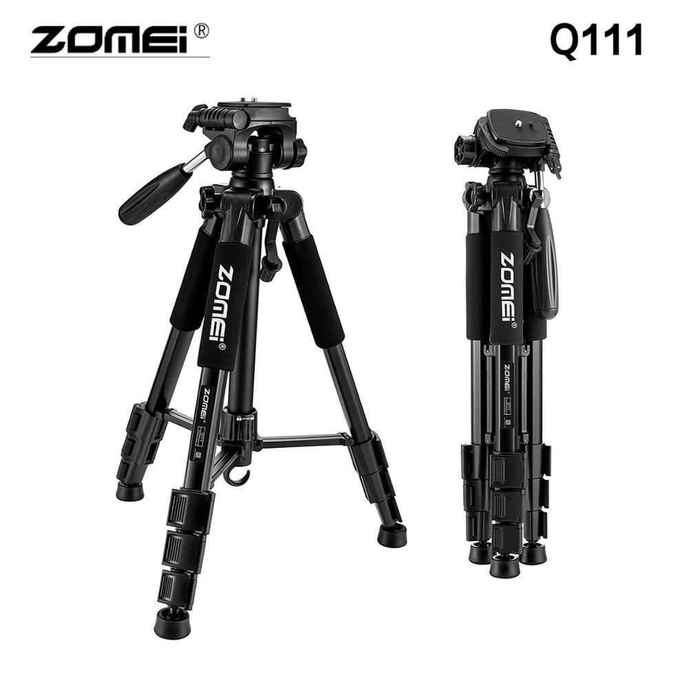 ZOMEI Q111 Suporte de Alumínio Profissional Tripé de Câmera Portátil para Viagem Leve stativ para Câmera Digital SLR DSLR Tripode