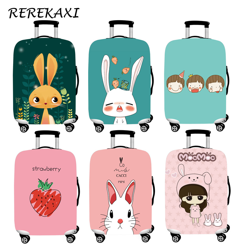Cartoon Rabbit Luggage Cover Suitcase Elastic Protection Case Covers 18-32 Inch Trolley Baggage Dust Covers Travel Accessories