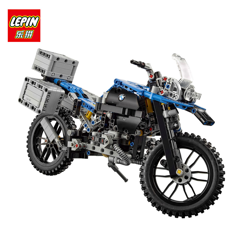 LEPIN 20032 603Pcs Education Buliding Blocks Model Technic Figures THE BAMW Off-road Motorcycles For Children Compatible 42063 lepin 20032 technic series the bamw off road motorcycles r1200 gs building blocks bricks educational toys 42063