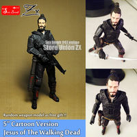 2017 New 5'' Jesus Cartoon The Walking Dead Action Figure Model Toy Gift eschatology survival zombies PVC figure doll