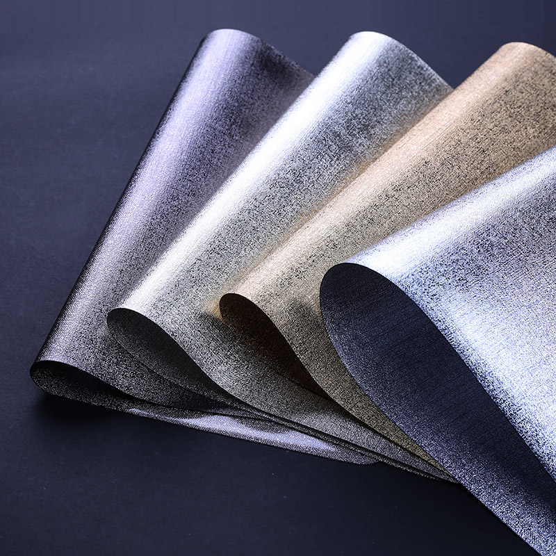 High Class Europe Style PVC Placemats Rectangle Metal Texure Heat Resistant Pads Dinner Dish Plates Mats Tableware