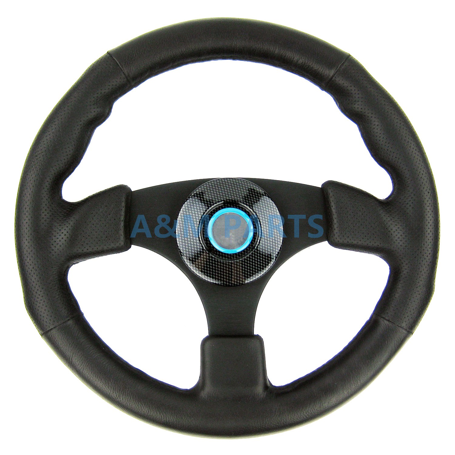 Sport Marine Steering Wheel Polyurethane Leather Grip Alloy Aluminum Spoke Boat Steering 13-1/2 цена и фото