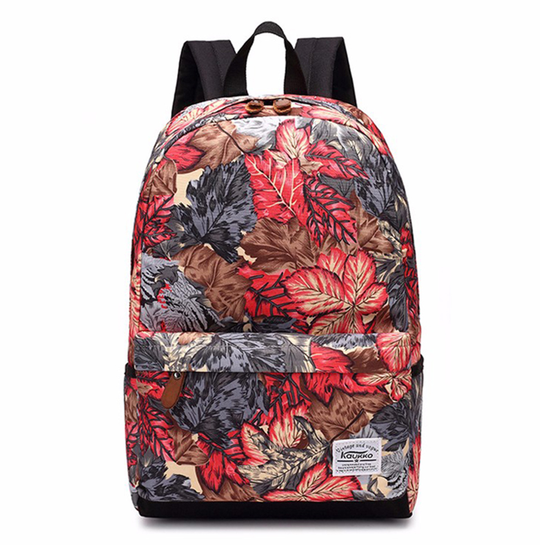 KAUKKO women travelling backpack school bags Fashion printing backpacks for teenagers girls, Maple Leaves 1pc hight quality hot fashion unisex emoji backpacks 3d printing bags drawstring backpack nov 10