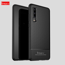 IPAKY Original Shockproof Silicone case for Huawei P30 Lite Cases Texture Soft Cover Phone Case For Pro Fundas