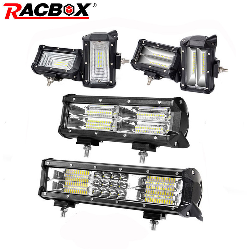 5 10 12 inch Led Light Bar 72W 144W 180W Flood Spot led light 12 24V Car Truck 4WD Off Road ATV Boat LED Driving Extra Work Lamp 2pcs set square 27w car led work light 30 degree spot lamp for working driving off road spot light boat suv truck car
