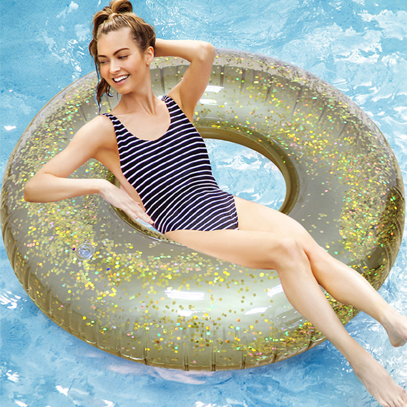 Rooxin 90/120cm Inflatable Circle Swimming Ring Baby Float Pool Toys Summer Party Women Swim Raft Thicken Floating Water Seat