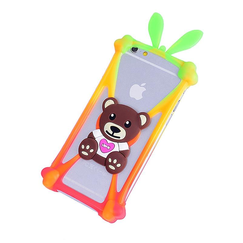 Cute Cartoon Silicone Universal Cell Phone Holster Cases Fundas For Fly IQ239 ERA Nano 2 Case Silicon Coque Cover