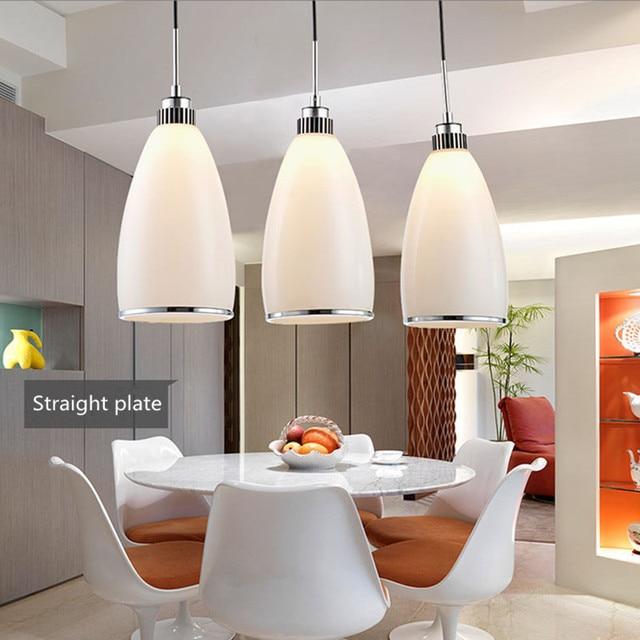 Gratis verzending 3 hoofden hanglampen eetkamer lampen, pure kleur ...