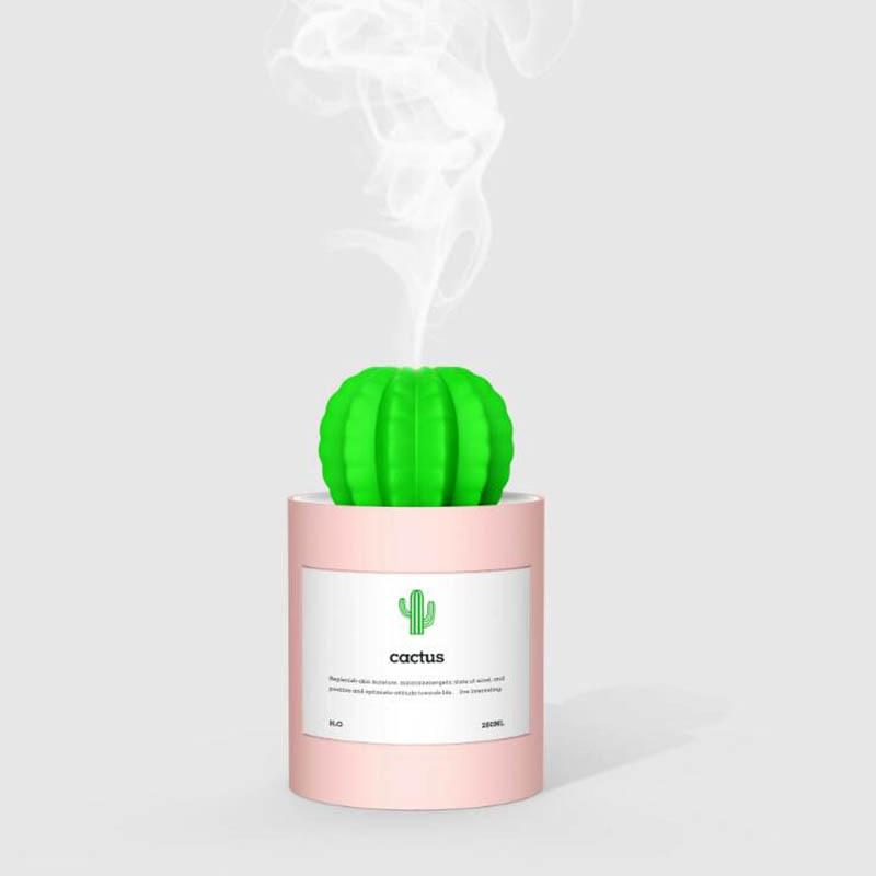 Ultrasonic Plant Bottle 280ml USB Cactus Humidifier Air Humidifier Mist Maker Creative Mini Office Desktop Air Purifier