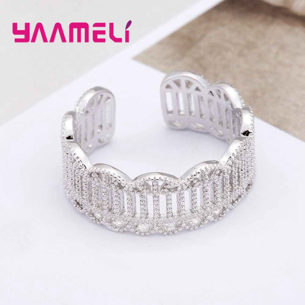 YAAMELI Retro Stylish Bands Rings for Women Men Party Gift Jewellery 925 Sterling Silver Original Design Party Accessories