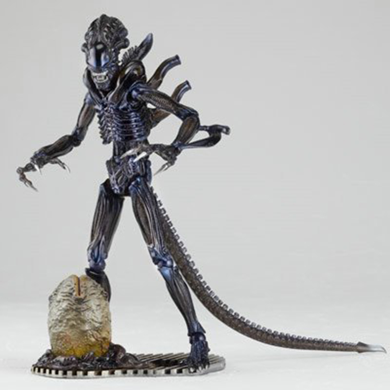 C&F 16 CM Movie Alien vs Predator Alien Action Toy Figures Garage kit Stock Horror Removable Hand Action Figures Toys Doll the garage kit resin kit of weeping angels doctor who action figure gift toys mini figures