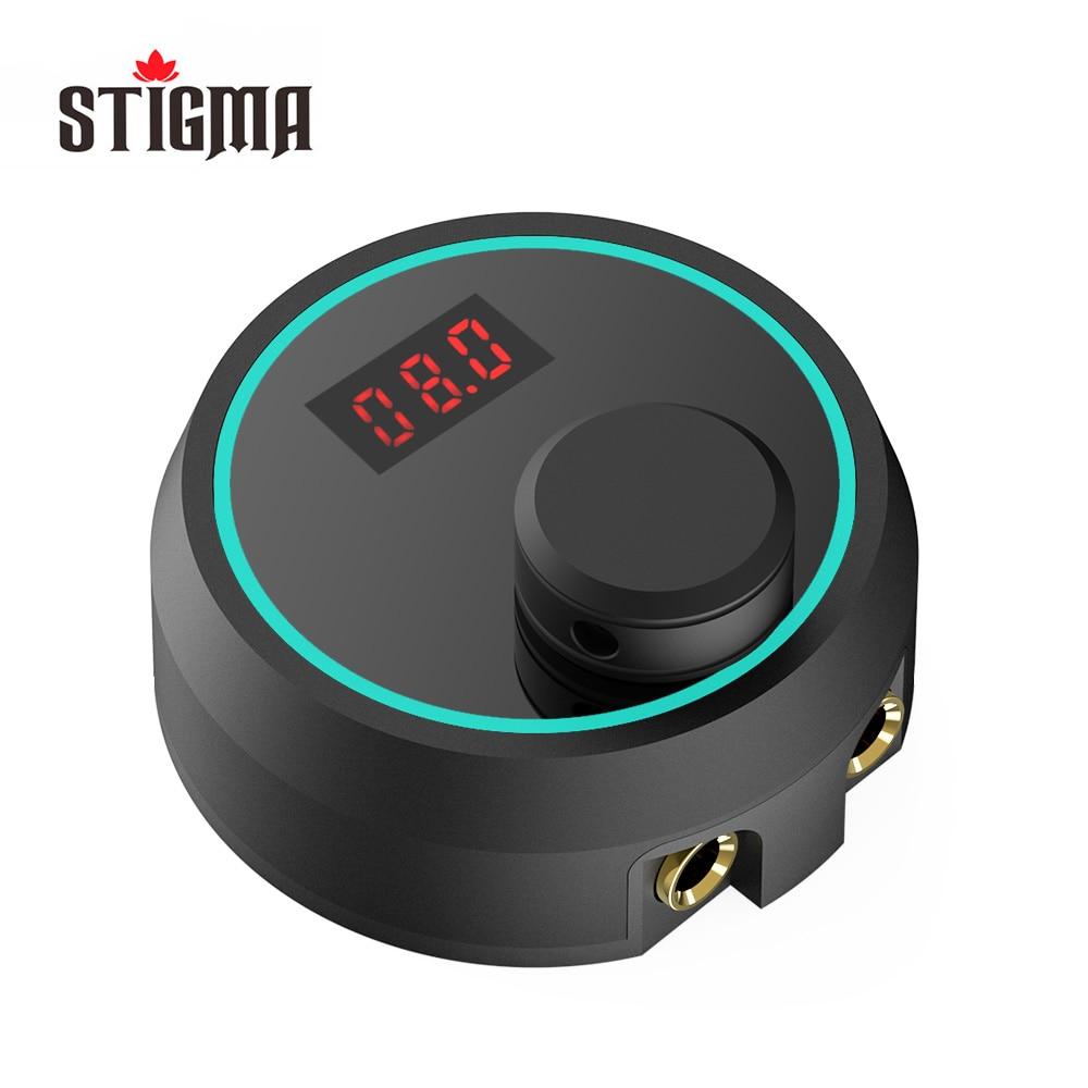Stigma Digital Tattoo Machine Power Supply with Knob Adjustable Intelligent Light New P177 Black color 2