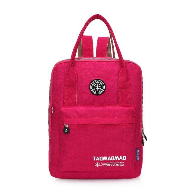 New 2017 Women Backpack Waterproof Nylon 8 Colors Lady Women's Backpacks Female Casual Travel bag zipper Bags mochila feminina Fashion Backpacks