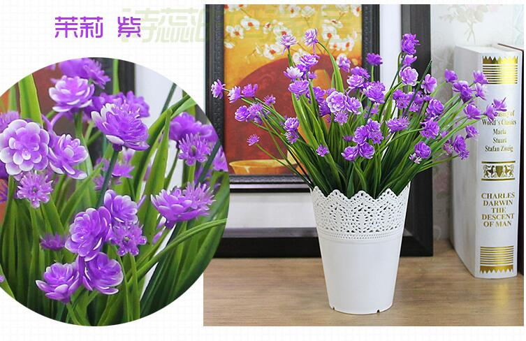 Free Shipping,Simulation Silk Flower Garden Living Room Bedroom Suite Cheap  Ornaments Placed In Plastic