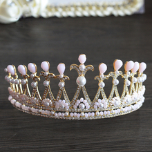 New Arrival Oversize Rhinestone Brides Tiara Crorwn Sliver Hair bands Headpieces Evening Accessories