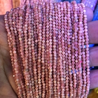 5 strings Lot Faceted Tiny Gem Beads 100% Natural Rhodochrosite Beads 2mm 3mm Round,Faceted Spacer Tiny Beads,15.5Full Strand