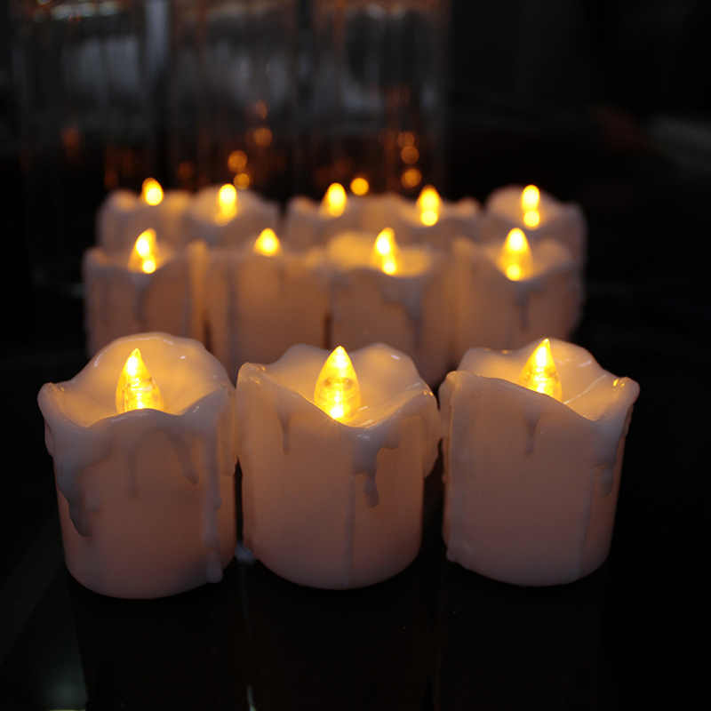 Set Of 6 Flameless Candles With Timer