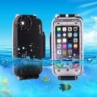עבור iPhone 6 6 s 7 7 בתוספת 6 בתוספת שיכון צלילה עמיד למים הכיסוי Case מחשב ABS תיק לכלוך/הלם הוכחת תמונה לקיחת וידאו מתחת למים