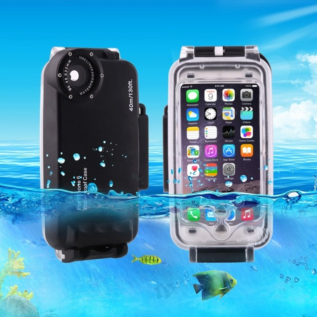 buy online 64c6d 07dc9 US $49.99 |For iPhone 6 6s 7 7 Plus 6 Plus Waterproof Diving Housing Cover  Case PC ABS Bag Dirt / Shock Proof Photo Video Taking Underwater-in Fitted  ...