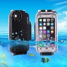 Para o iphone 6 6s 7 plus 6 mais à prova dwaterproof água mergulho habitação capa caso pc abs saco sujeira/à prova de choque foto vídeo tomar debaixo dunderwater água