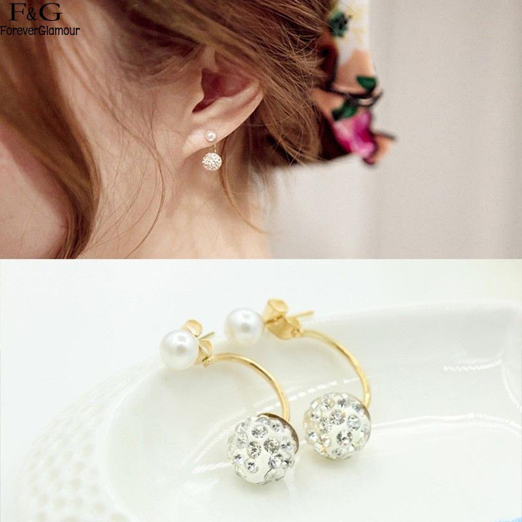 Trendy Women Fashion Artificial Diamond Jewelry New Earrings Charm Wedding Gift
