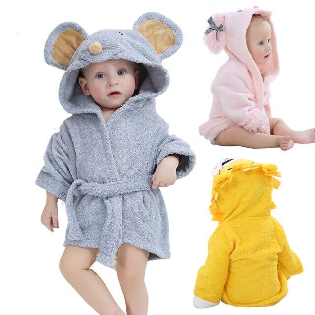 bc2baa05 US $18.53 19% OFF Moda wzory z kapturem modelowania szlafrok dziecięcy  ręcznik dla niemowląt charakter szlafrok dziecięcy dla niemowląt ręczniki  ...