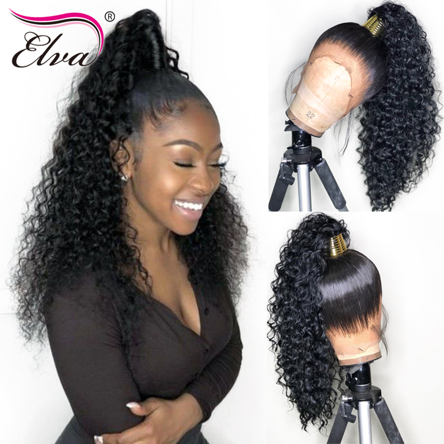 Glueless Lace Front Human Hair Wigs Pre Plucked With Baby Hair 13x6 Curly Brazilian Lace Front