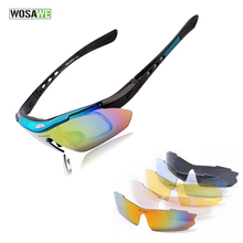 WOSAWE UV Protection Polarized Cycling Glasses Bike Goggles Outdoor Sports Bicycle Sunglasses With 5 Lens