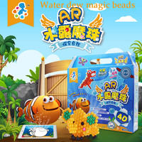 New Water Spray Magic Aqua Beads DIY hand making 4D aquabeads puzzle Educational Toys For Children DIY Kit Ball Game