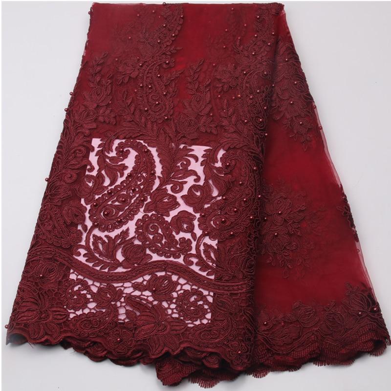 Tela neta bordada africana de lujo al por mayor del cordón con la - Artes, artesanía y costura