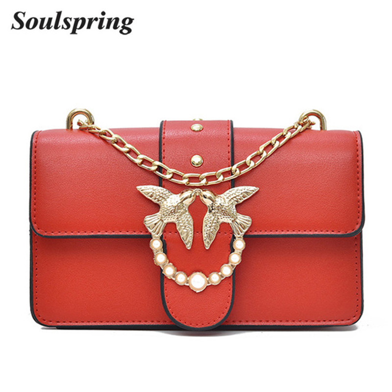 SOULSPRING Fashion Women Crossbody Bag Promotional Ladies Luxury PU Leather Messenger Bag Purses Crossbody Bags For Women 2018