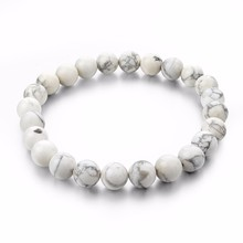 Natural Stone Strand Bracelets With Stones Love Casual Men Jewelry White Beads Bracelets & Bangles for Women 2016 Gift