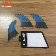 2017 perfect quality FCS II fins with fiberglass honey comb material for surfboard FCS 2 fin 002 size M with strong bag