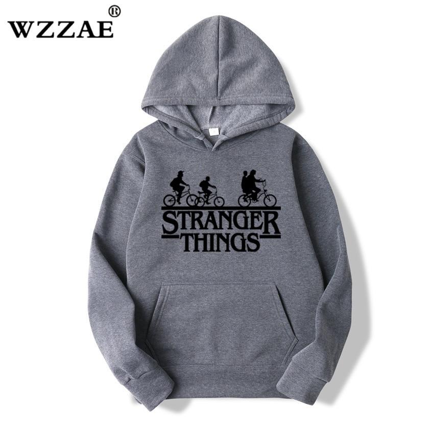Trendy Faces Stranger Things Hooded Hoodies and Sweatshirts 46