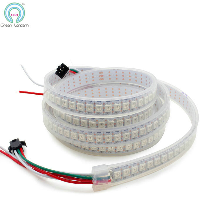 ФОТО WS2812B LED Strip Waterproof IP67 144LED/m Dream Color 5v WS2812 WS2812B Flexible 5050 Led Strip Dmx Addressable