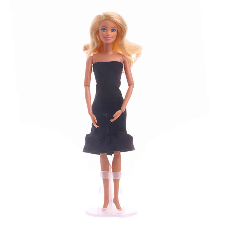 ZWSISU ファッションスタイルぴったりな黒のミニためのアクセサリー人形