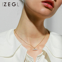 ZEGL Dolphin Necklace Necklace Clavicle Chain Send Honeymoon Birthday Gift Female Necklace Neck Jewelry