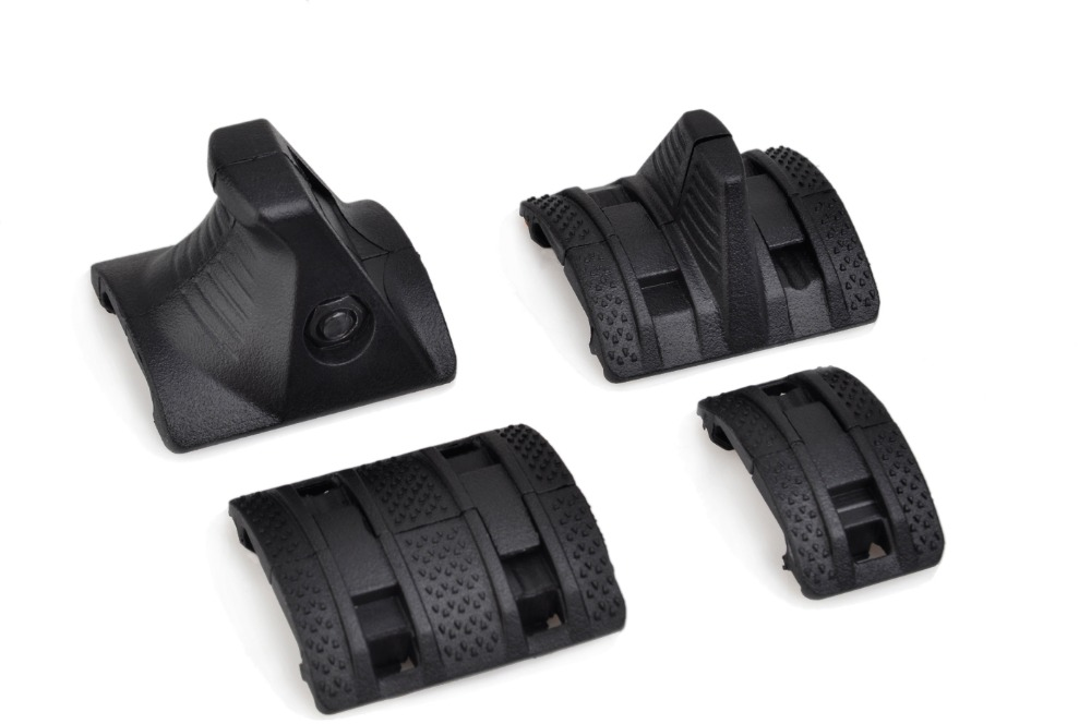 LAMBUL Quard Rail Cover RIS RAS Rail Tactical Finger Stop Handguard Protector 4 Pieces Kit in Scope Mounts Accessories from Sports Entertainment