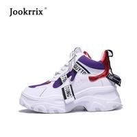 Jookrrix zapatos casuales las mujeres de la marca de fábrica zapatillas  señora chaussure otoño calzado 2018 bced57d68eaf