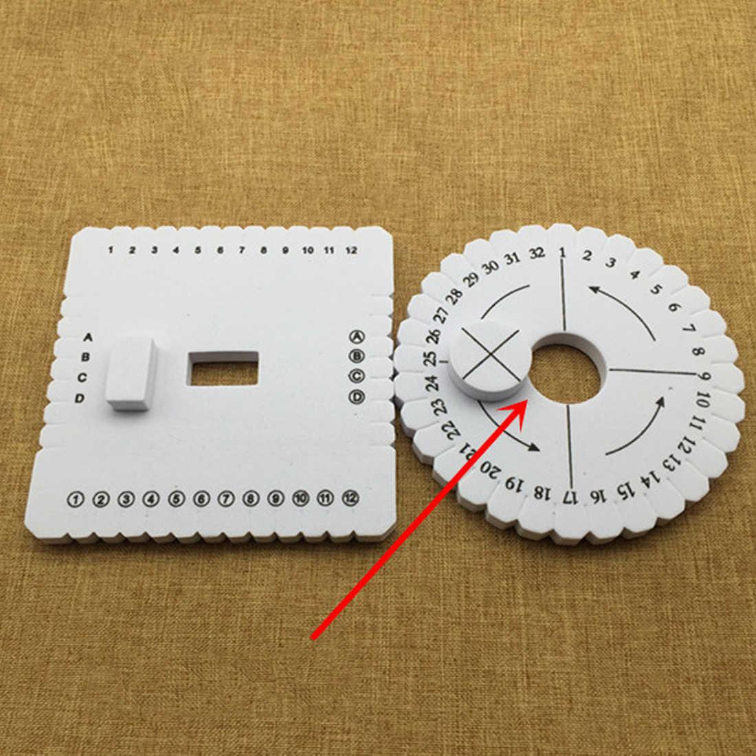 Quadrado redondo Disco 2 pcs Macrame Corda Cabo Trançado Pulseira Artesanal Tecelagem Disco Placa de Material DIY Ferramenta De Costura