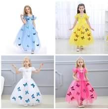 4669f8c9dba8d 2019 Princesse robe cendrillon Bébé 3D-butterfly Costume vêtements pour  enfants Costume déguisement CosplayCostume vêtements