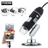 Fuers 3 in 1 Microscope Camera 1080P 1000X 8 LED Digital Microscope USB Endoscope Camera Video Photo WIFI Microscopio Magnifier