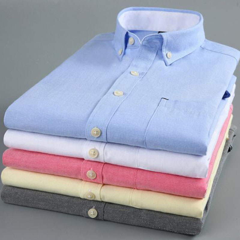 Summer Fashion Men Short Sleeve Oxfors Pure Cotton Slim Fit Shirts Cloth,Breathable Solid Candy Color Breathable Shirts Camisa