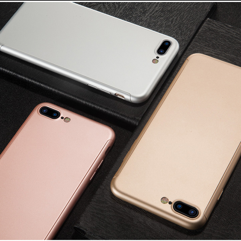 I7 I7 Plus Full Body Cases For IPhone 7 Phone Case 360 Degree Back Case Cover