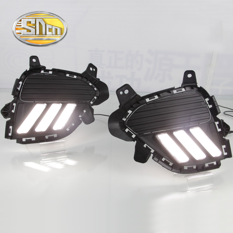 SNCN LED Daytime Running Light For Hyundai Creta IX25 2017 2018,Car Accessories Waterproof ABS 12V DRL Fog Lamp Decoration упоры капота автоупор для hyundai creta 2016 2 шт
