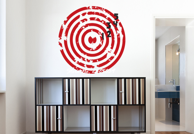 Red Target with Black Numbers Sticker Living Room Art Decor Vinyl Removable Wall Decal Nursery Bedroom Decoration Mural LA322